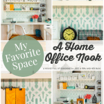 My Favorite Space: A Functional & Beautiful Home Office Nook by A House Full of Sunshine