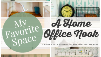 A Home Office Nook | A house full of sunshine for Just a Girl and Her Blog