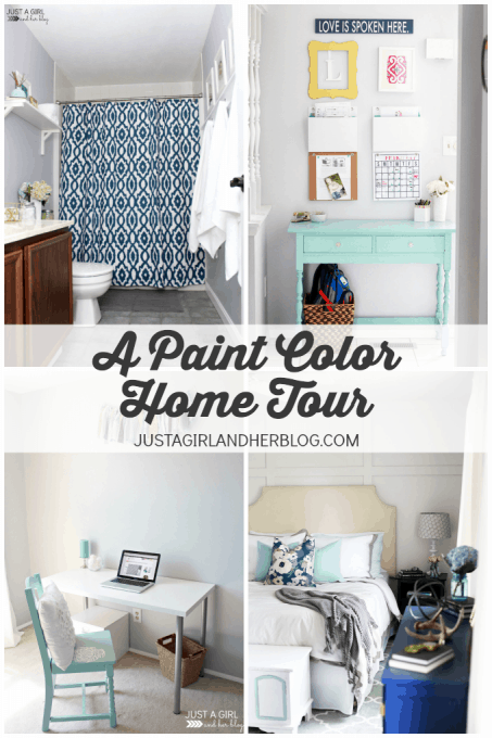 A Paint Color Home Tour | JustAGirlAndHerBlog.com