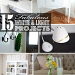 15 Fabulous White and Light Projects | JustAGirlAndHerBlog.com