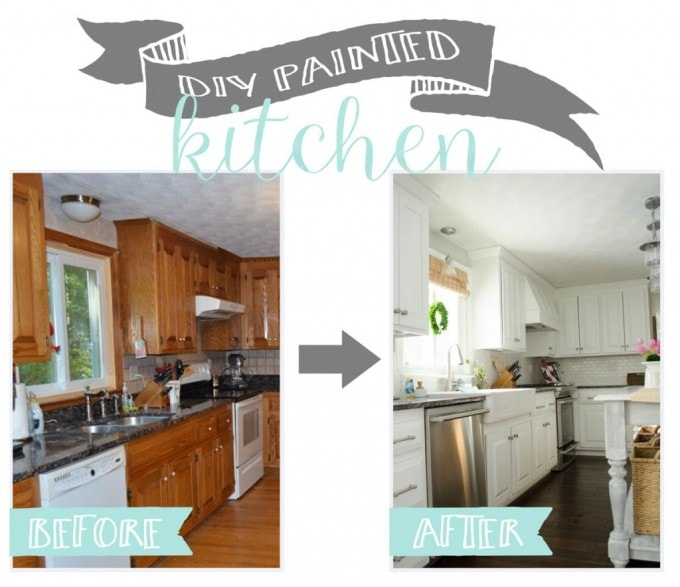 DIY Painted Kitchen   Everyday Enchanting for Just a Girl and Her Blog