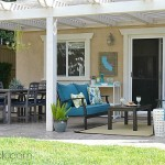 Outdoor Living Room | TinySidekick for Just a Girl and Her Blog