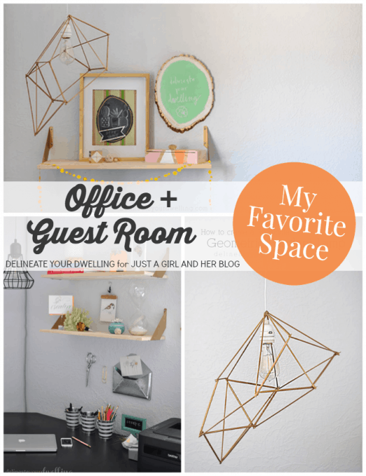 Office + Guest Room | Delineate Your Dwelling for Just a Girl and Her Blog