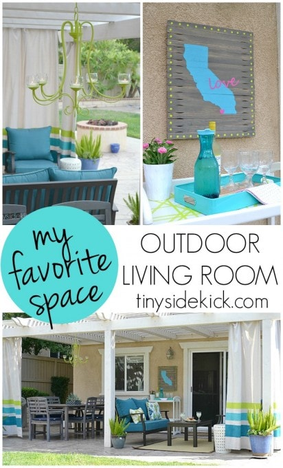 My Favorite Space: Outdoor Living Room | TinySidekick for Just a Girl and Her Blog
