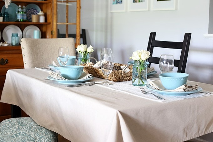 A Coastal Tablescape | Just a Girl and Her Blog for Beneath My Heart