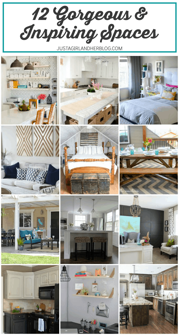 12 Gorgeous and Inspiring Spaces | JustAGirlAndHerBlog.com