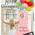 $500 Amazon Giveaway Celebrating a 5-Year Survivorversary