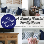 My Favorite Space: A Beachy Coastal Family Room by Making Home Base