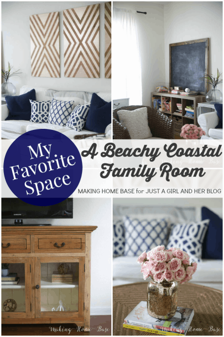 A Beachy Coastal Family Room | Making Home Base for Just a Girl and Her Blog
