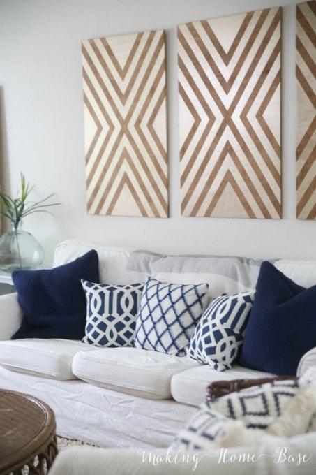 A Beachy Coastal Living Room | Making Home Base