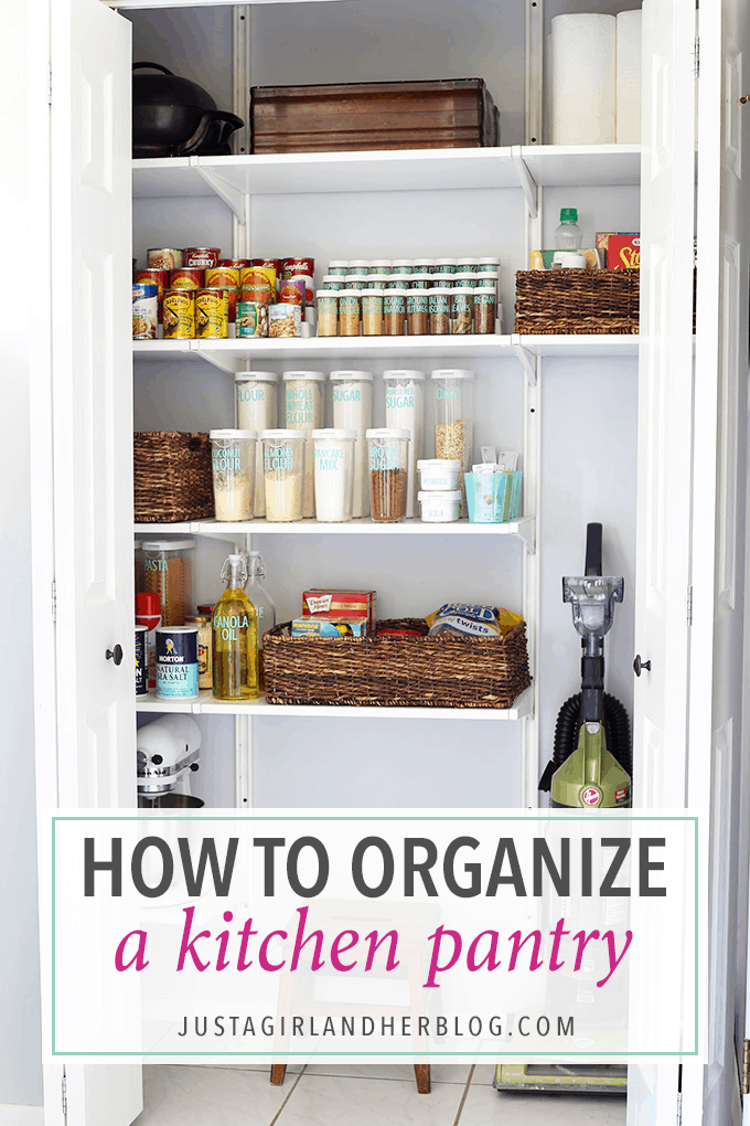 How To Organize A Kitchen Pantry Just A Girl And Her Blog