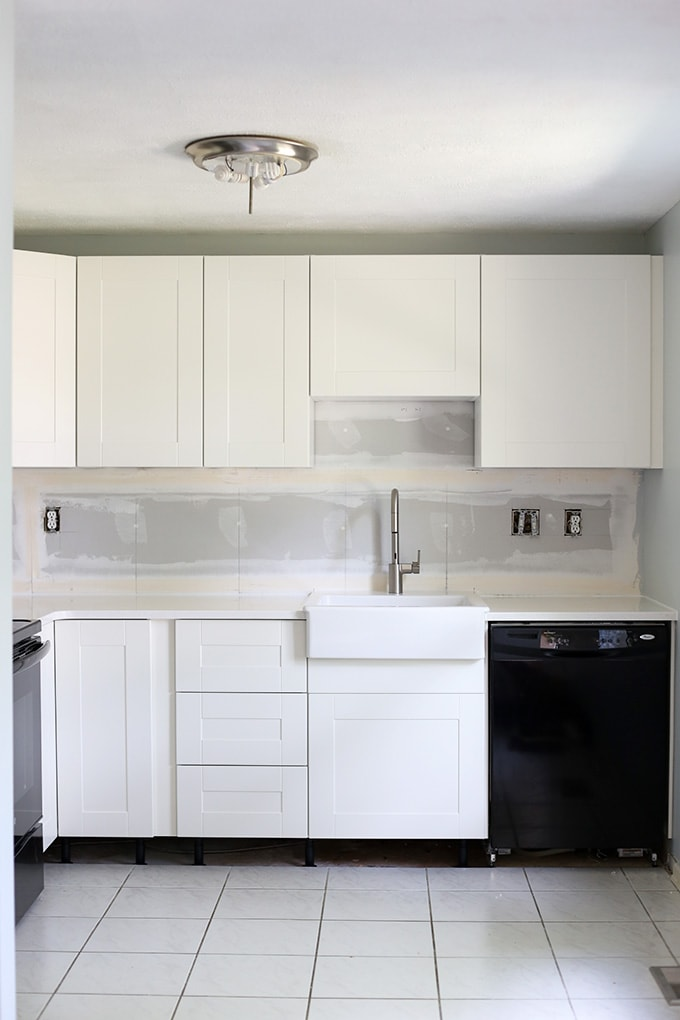 How to design and install ikea sektion kitchen cabinets for Can you replace kitchen cabinets without replacing countertop