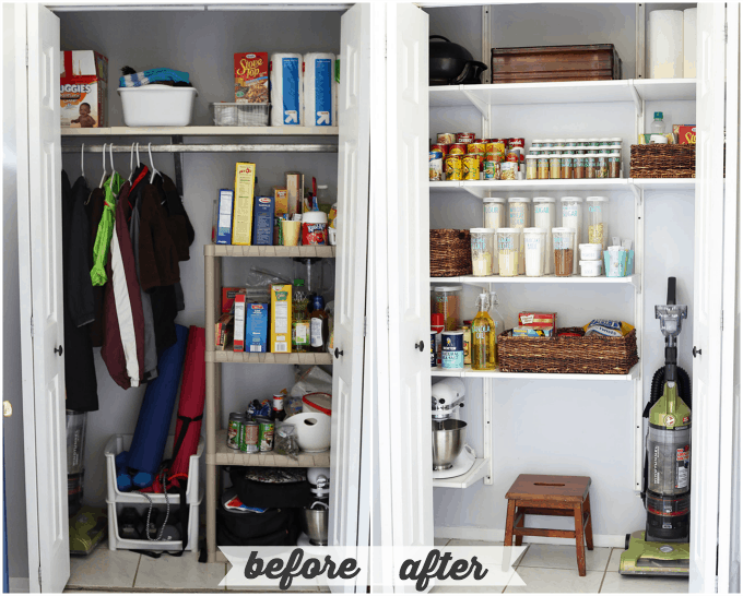 How to Organize a Kitchen Pantry | Just a and Her Blog Ideas For Organizing Deep Kitchen Cabinets on ideas for organizing refrigerator, ideas for organizing closets, ideas for organizing tools, ideas for small kitchen, ideas for organizing living room furniture, ideas for home organization, ideas for organizing toys,