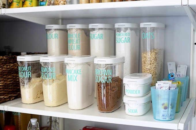 How to Organize a Pantry | JustAGirlAndHerBlog.com