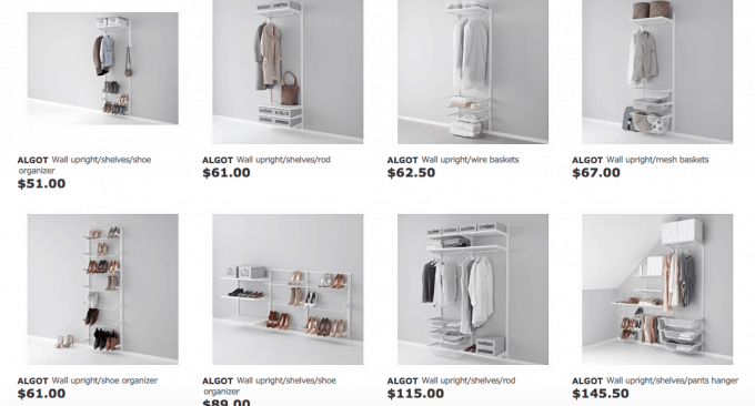 Love IKEA's ALGOT system for organizing closets! It's so easy to mix and match the pieces to get exactly what you need. Click through to the post for more details!