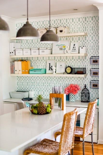A Functional & Beautiful Home Office Nook | A House Full of Sunshine