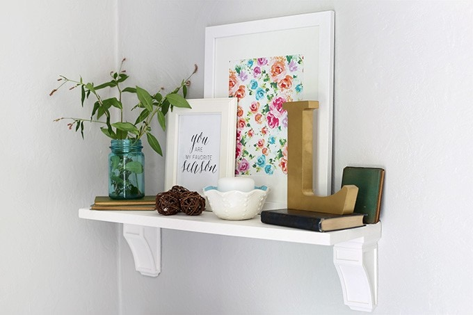 How to Make a Simple Shelf | JustAGirlAndHerBlog.com