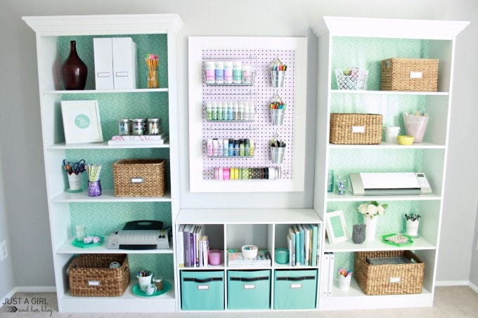 A Feminine Home Office | Just a Girl and Her Blog