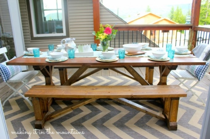 A Beautiful Courtyard Deck | Making It in the Mountains