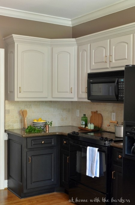 A Beautiful Two-Toned Kitchen | At Home with the Barkers
