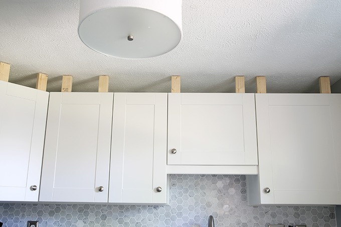 Beau How To Install A Crown Molding To Kitchen Cabinets | JustAGirlAndHerBlog.com
