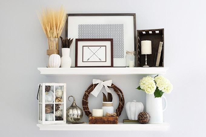 Styling Shelf Decor For Fall Justaandherblog