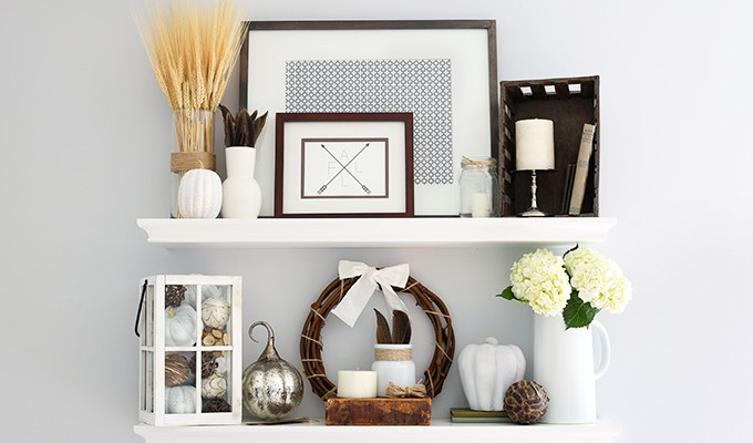 How to Style Shelves in 7 Simple Steps {and My Fall Shelf Decor!}