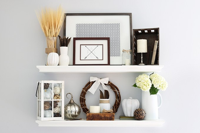 Decoration Shelf Of The Best Sources For Affordable Fall Decor Just A Girl