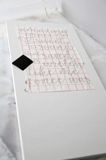 How to Make a Hand Lettered Sign | JustAGirlAndHerBlog.com