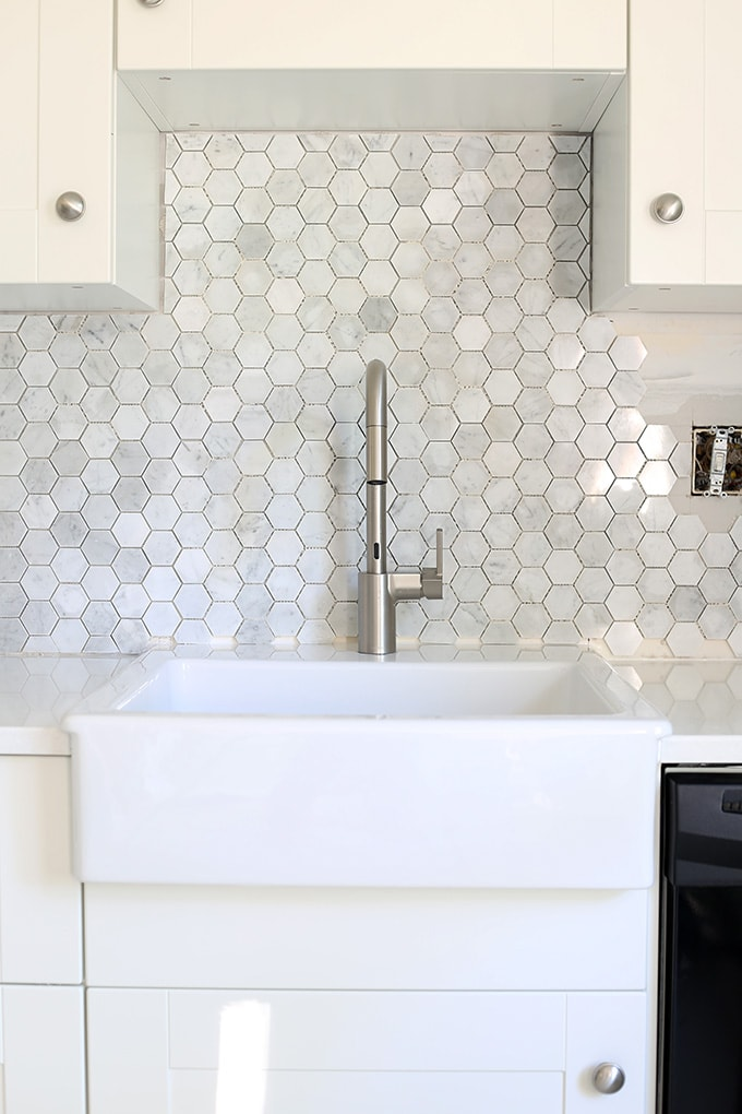 How To Install A Marble Hexagon Tile Backsplash Just