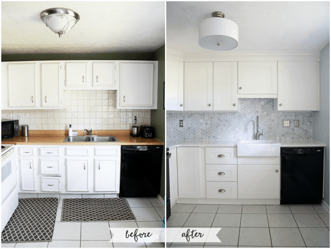 Captivating How To Install A Crown Molding To Kitchen Cabinets | JustAGirlAndHerBlog.com