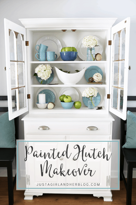 picture about Justagirlandherblog called Painted Hutch Makeover Abby Lawson