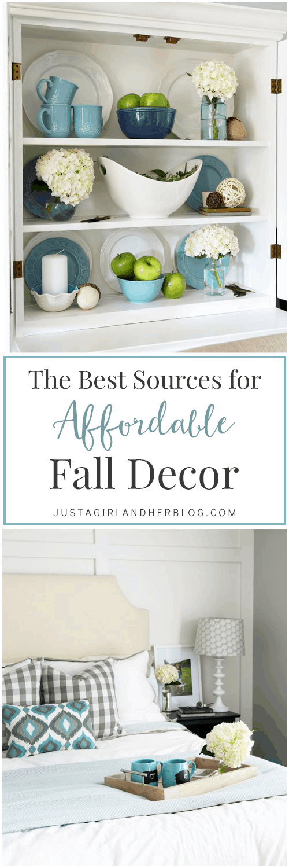 The Best Sources for Affordable Fall Decor | JustAGirlAndHerBlog.com