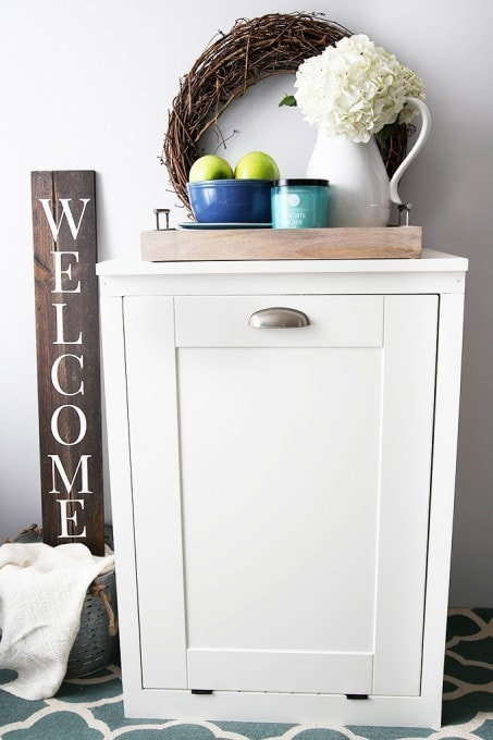 How To Build A Custom Tilt Out Trash Cabinet Abby Lawson