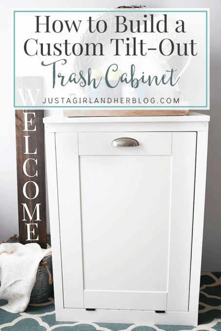 How to Build a Custom Tilt-out Trash Cabinet | JustAGirlAndHerBlog.com