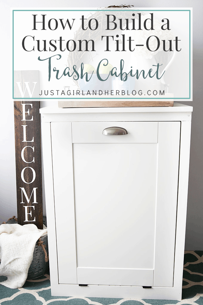 hidden trash can cabinet how to build a custom tilt out trash cabinet just a 16291