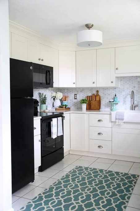 Our Diy White Kitchen Renovation The Reveal Just A Girl And
