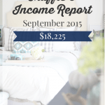 September 2015 Traffic and Income Report