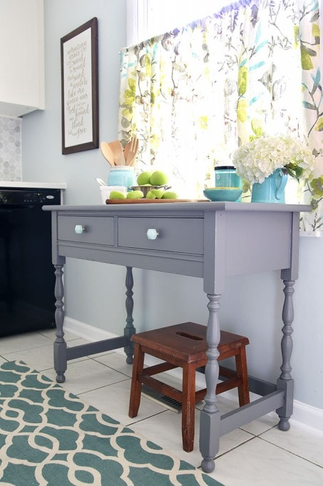An Upcycled Kitchen Sideboard | JustAGirlAndHerBlog.com