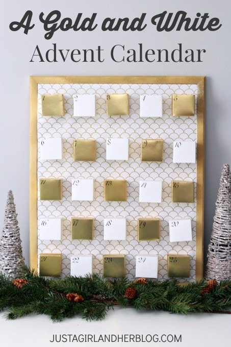 A Gold and White Advent Calendar | JustAGirlAndHerBlog.com