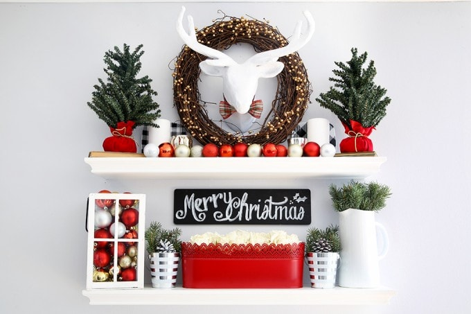 not sure what to put on your floating shelves this christmas this post can help