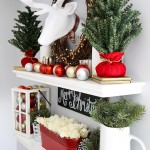 How to Style Floating Shelves for the Holidays