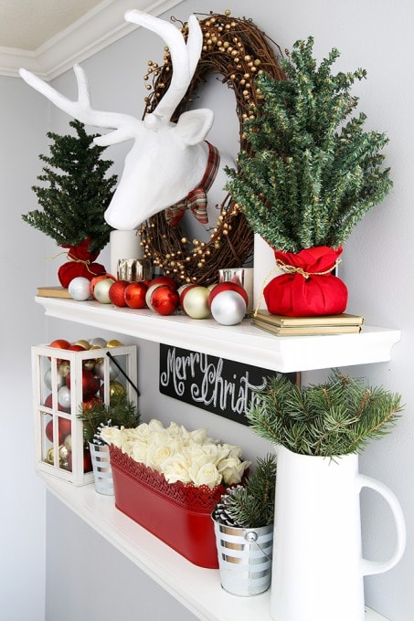 How To Decorate In Bohemian Style: How To Style Floating Shelves For The Holidays