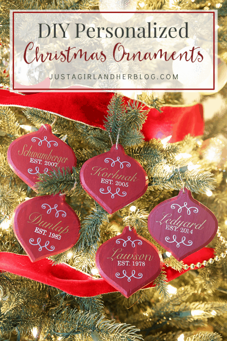 DIY Personalized Christmas Ornaments | JustAGirlAndHerBlog.com - DIY Personalized Christmas Ornaments - Just A Girl And Her Blog