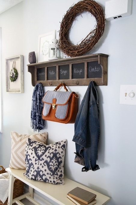 How to Decorate a Small Entryway | JustAGirlAndHerBlog.com