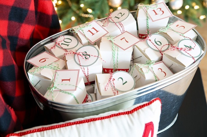 Our DIY Advent Calendar with Free Printables | JustAGirlAndHerBlog.com