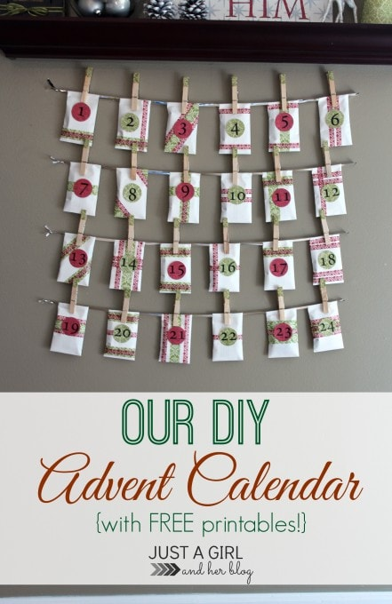 Our 2013 Red and Green Advent Calendar | JustAGirlAndHerBlog.com