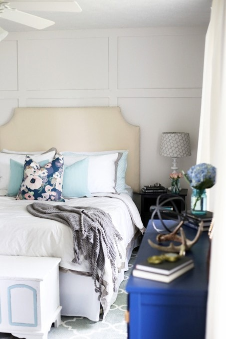These are 5 fantastic room makeovers! I love her style-- click through to the post to see them all! | JustAGirlAndHerBlog.com