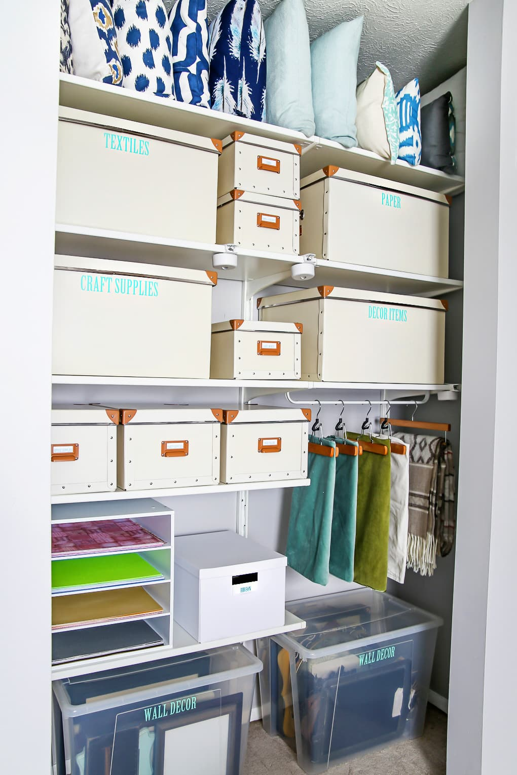 Craft Closet Organization Ideas Part - 17: Just A Girl And Her Blog