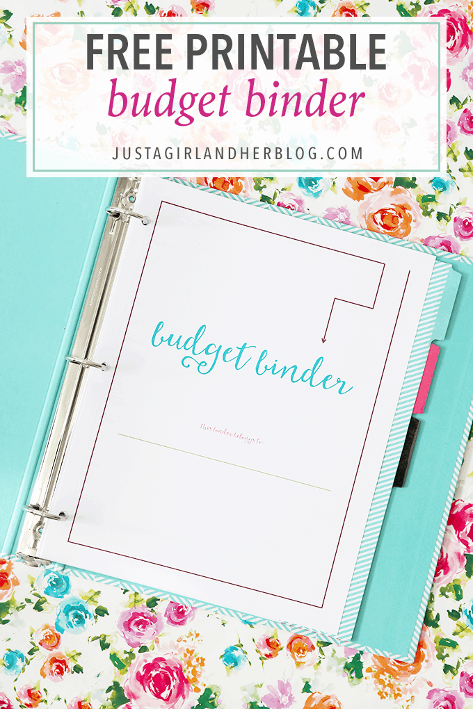 The 2016 Budget Binder - Just a Girl and Her Blog